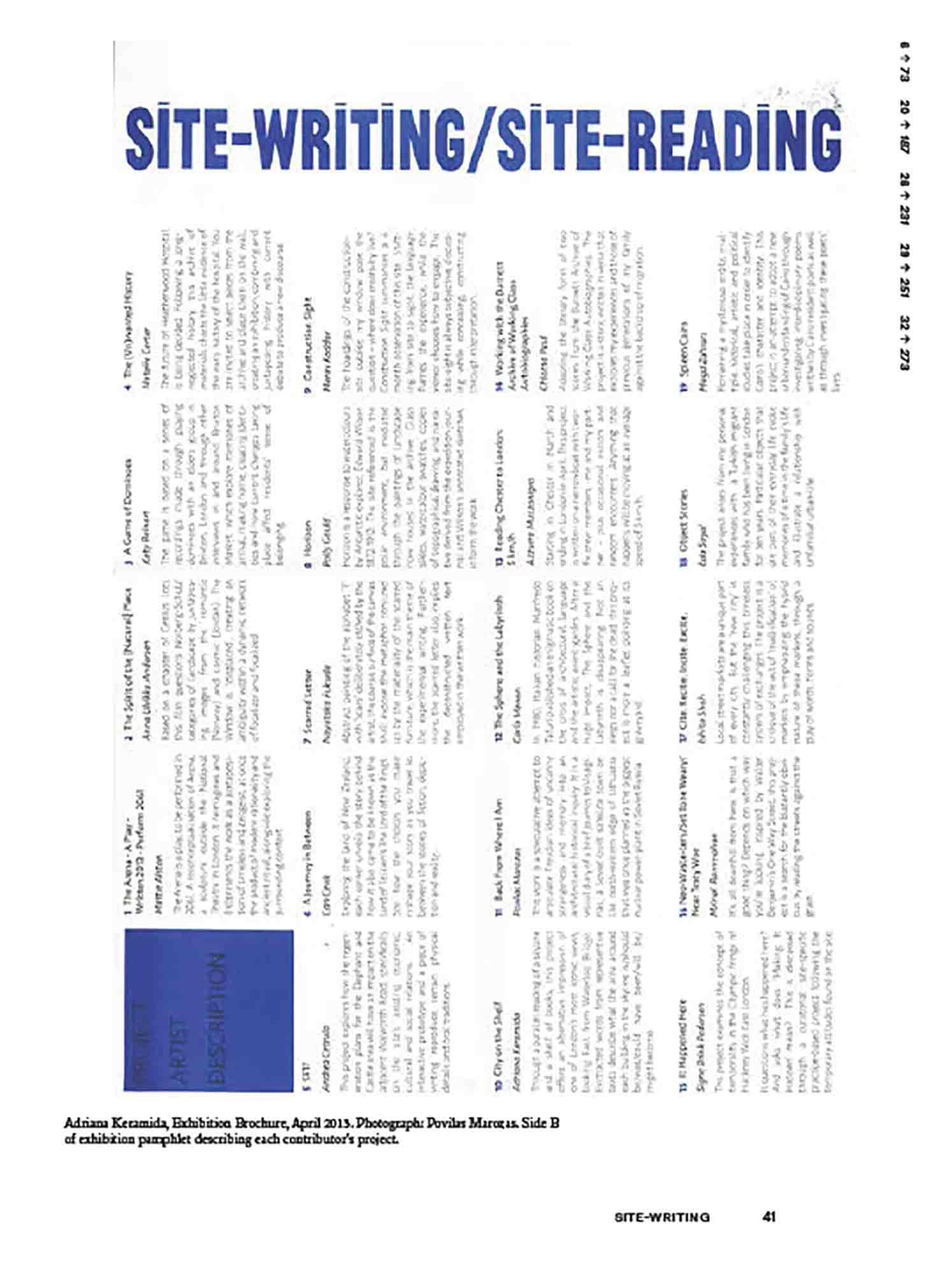 Site-Writing/Site Reading, Engaged Urbanism (41)