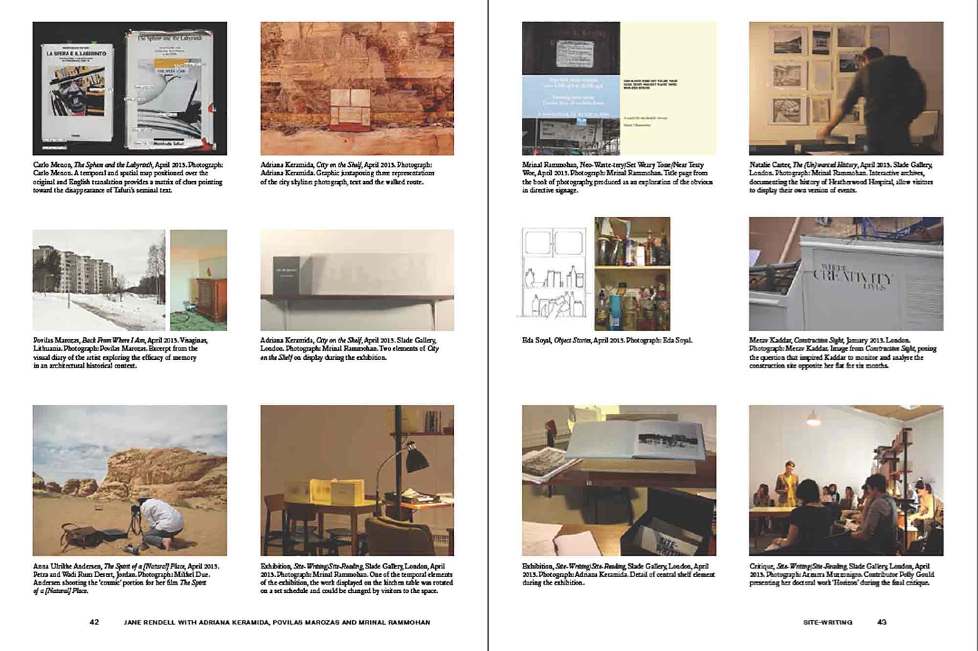 Site-Writing/Site Reading, Engaged Urbanism (42-43)