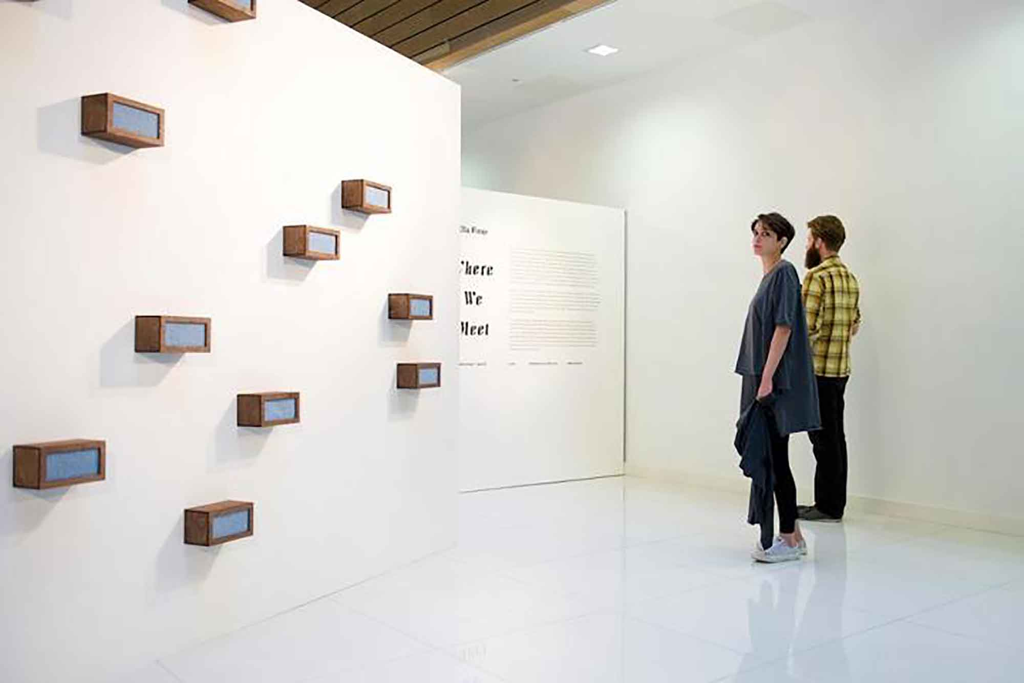 Ella Finer, Where we Meet, October 2012, Galerie8, London. Photograph Credit: Kitty Walker