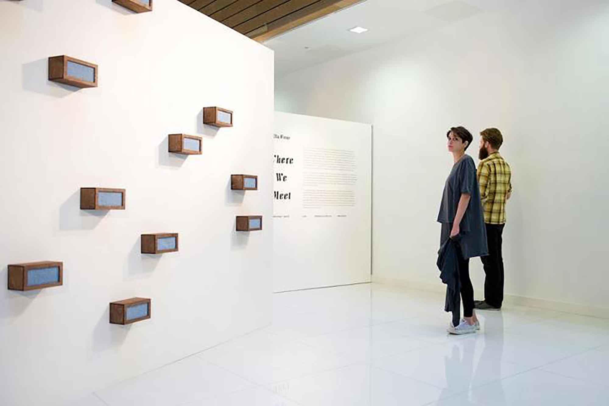 Ella Finer, Where we Meet, October 2012, Galerie8, London. Photograph Credit: Kitty Walker