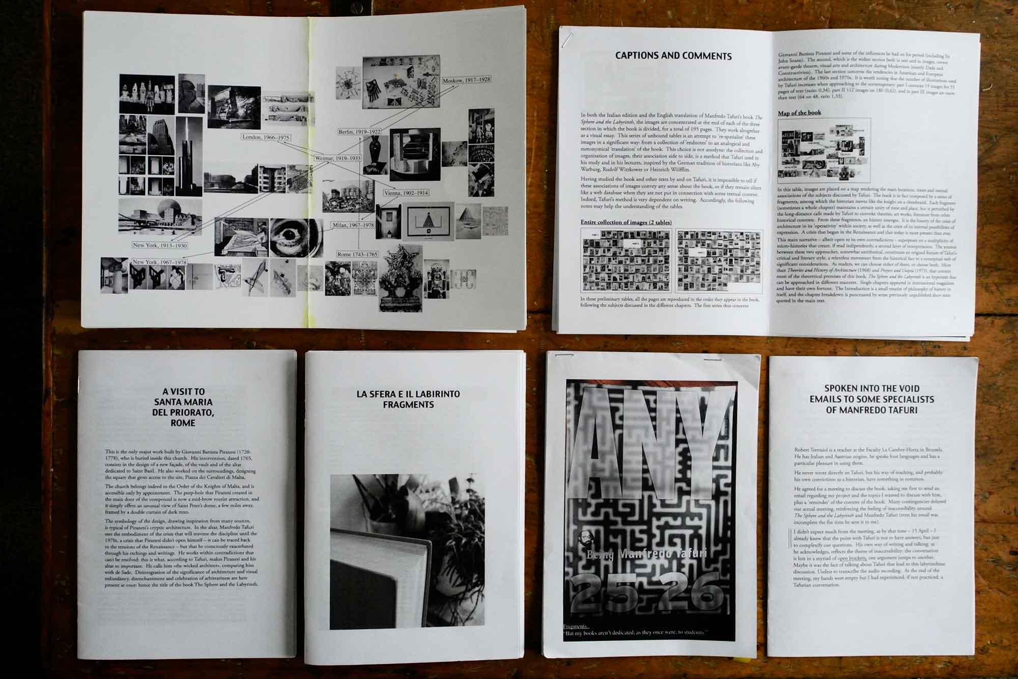 Tafuri booklets