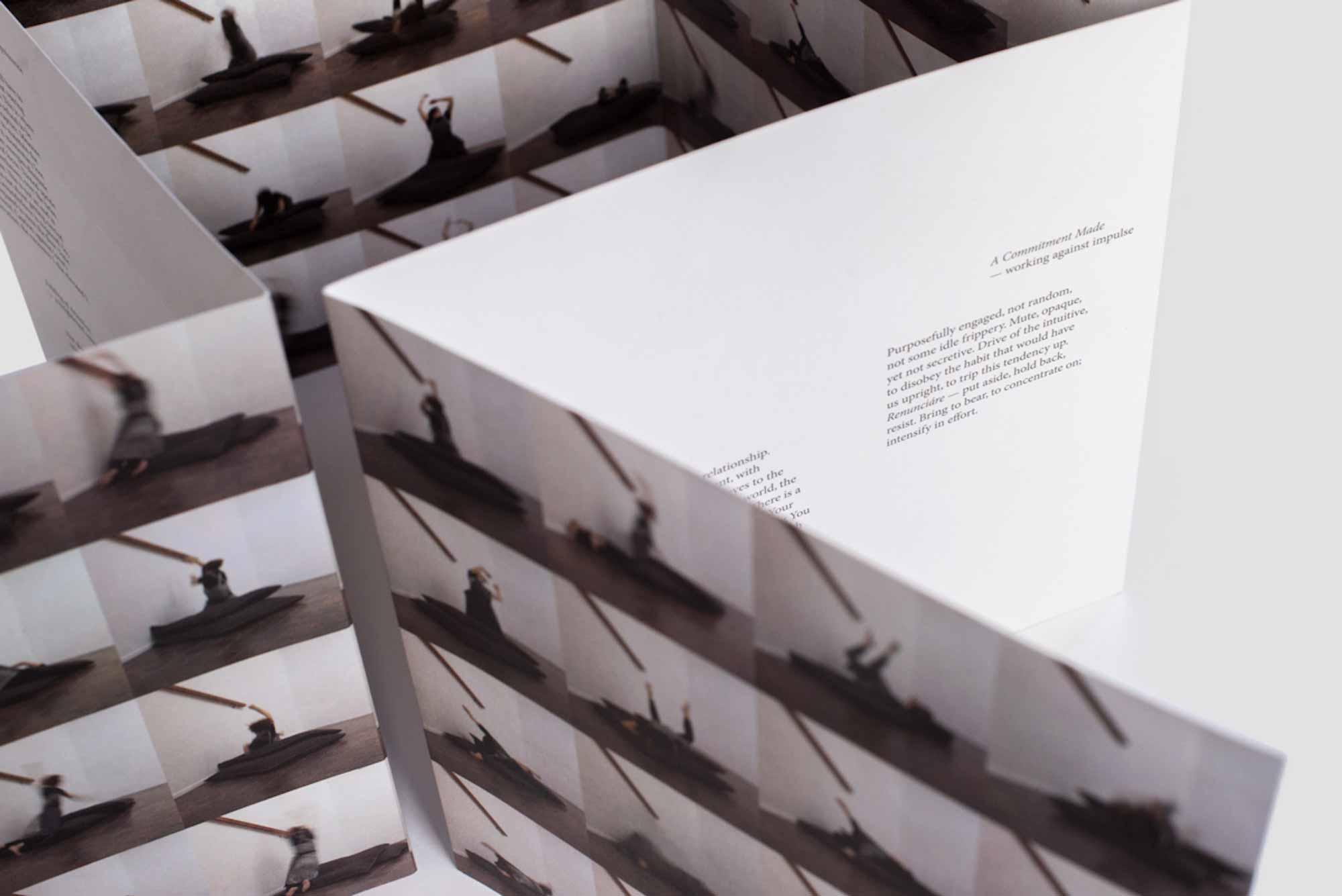 Emma Cocker + Clare Thornton, The Italic I. Photograph by Beam Editions.
