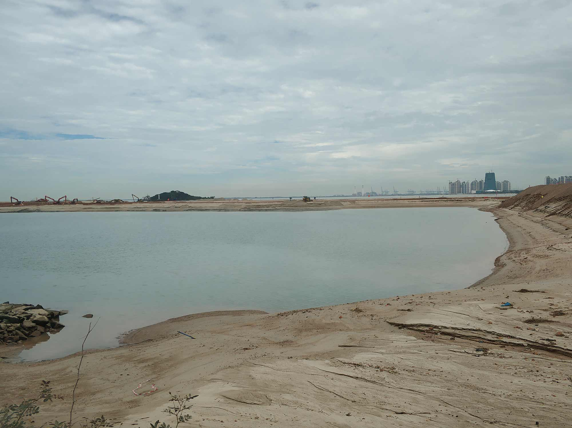 Tuas View reclamation, 2019. Photograph: William Jamieson.