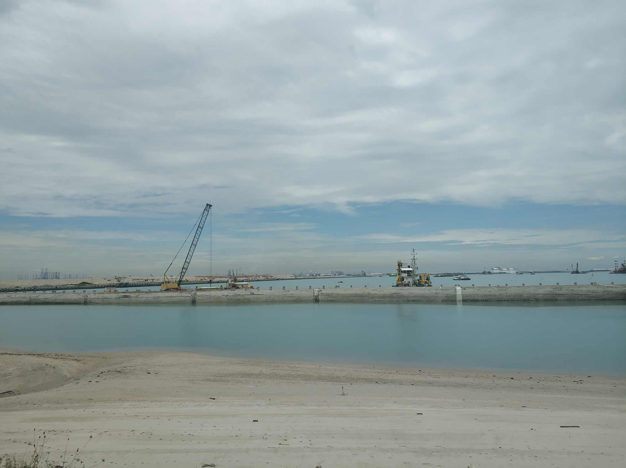 Tuas port reclamation, 2019. Photograph: William Jamieson.